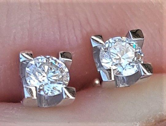 Toftegaard Dream Diamond Solitaire Diamant Øreringe i Hvidguld.