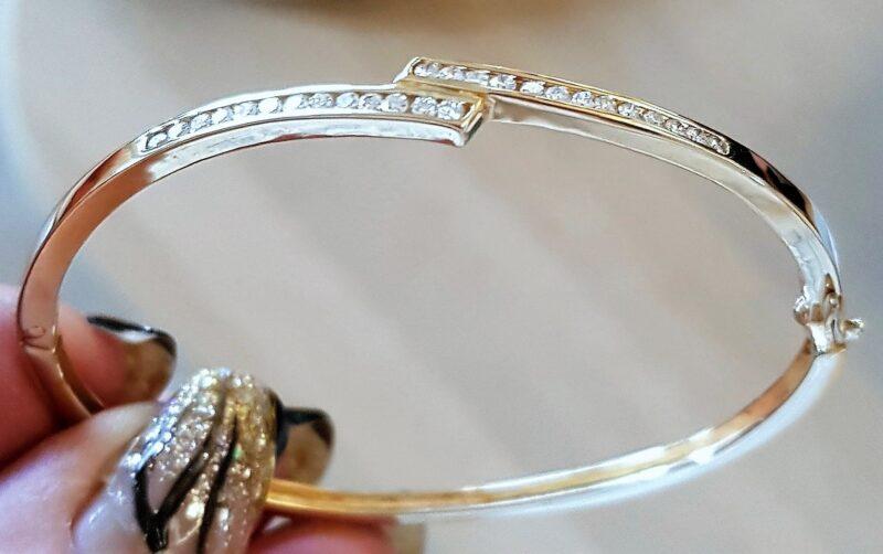 Guld Armring Charlotts Diamonds m. Diamanter
