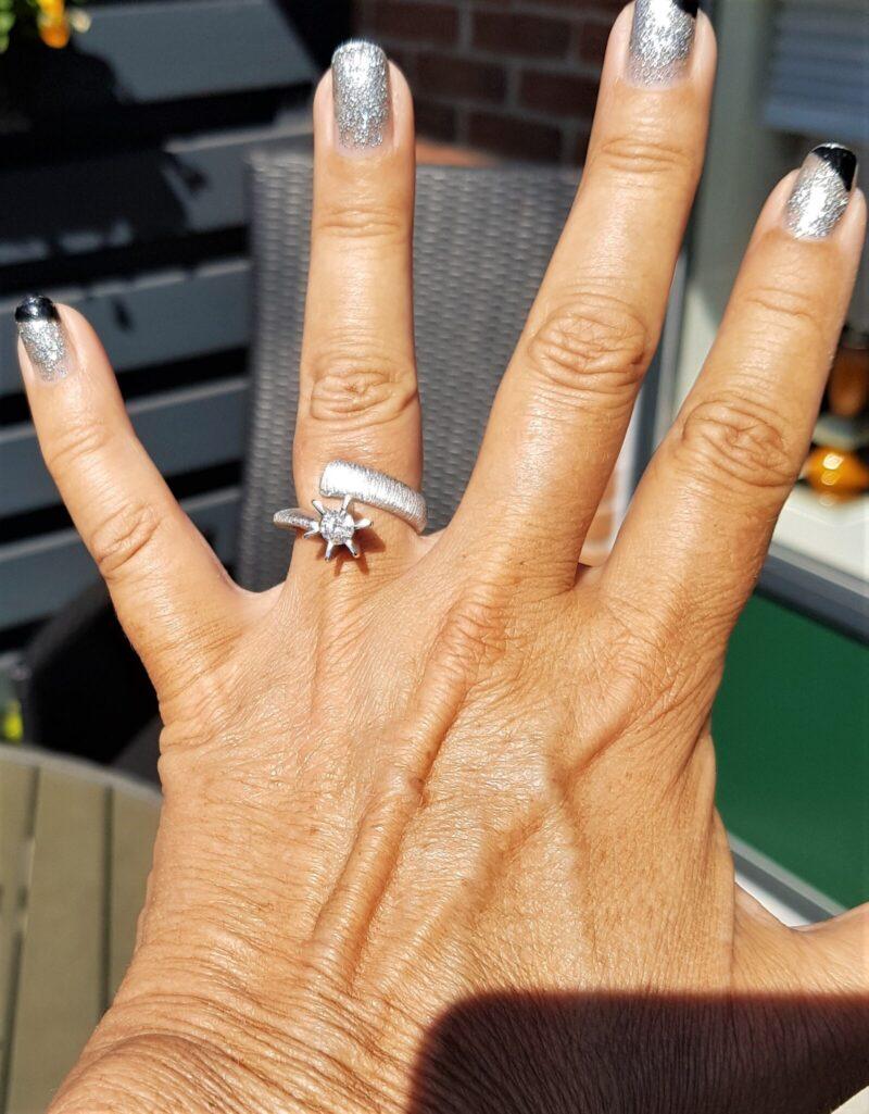 Solitaire Diamant Ring i Børstet/Satineret Design m. 0,53 Carat Solitaire Diamant