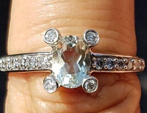 Grøn Ametyst Ring m. Diamanter i Hvidguld.