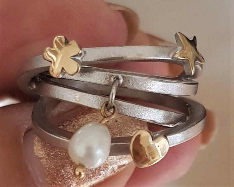 Bremer Jensen Hvidguld/Guld Ring i Unika Design.