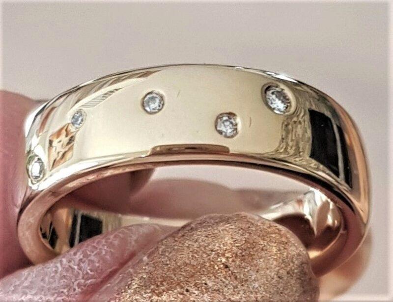 Diamant Stjernedrys Ring i Guld