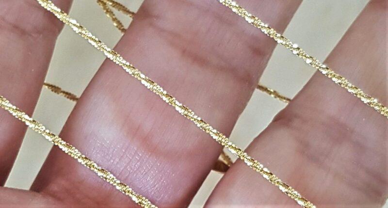 Margarite Paillette Halskæde i 14 Karat Guld