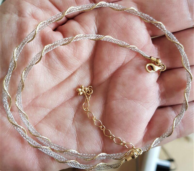 Design Halskæde fra Kitsinian i 14 Karat Guld og Hvidguld.