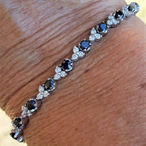 Sort - Hvid Diamantarmbånd