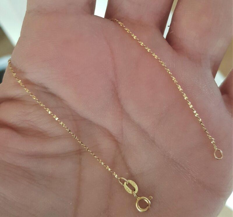 Forlænger Kæde i 14 Karat Guld til Halskæder.