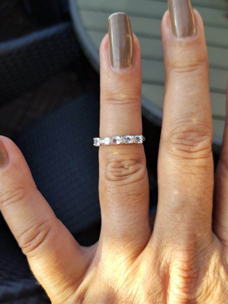 Hvidguld Ring m. Klare Quartz.