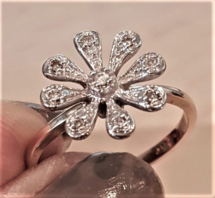 Marguerite Diamant Ring i Guld.