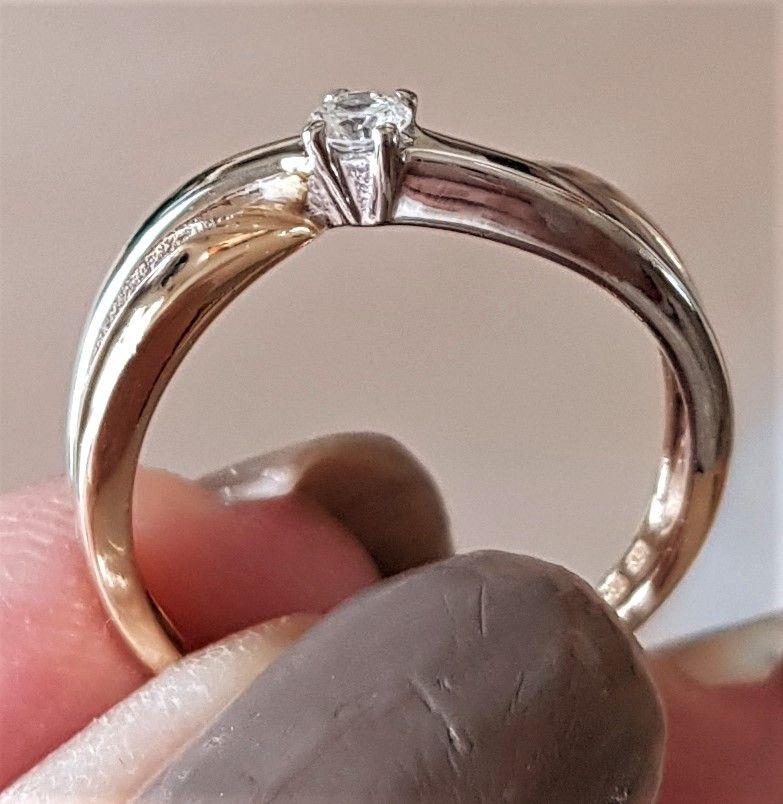 Diamant Ring i Hvidguld/Guld.