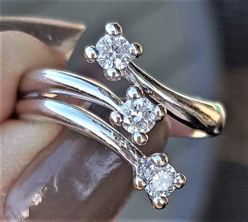 Diamant Ring i 18 Karat Hvidguld m. 0,30 carat Diamanter.