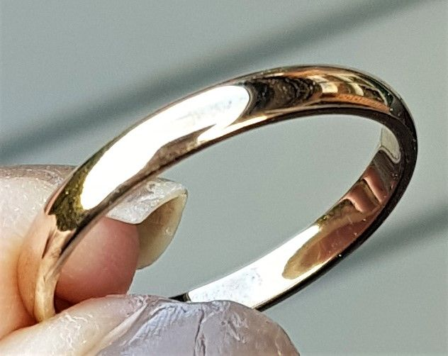 Herre Ring/Forlovelses Ring i Guld.