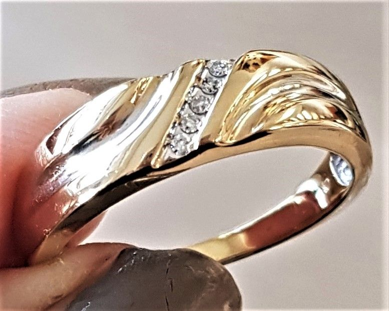 Herre Ring i Guld/Hvidguld m. Diamanter Charlotts Diamonds