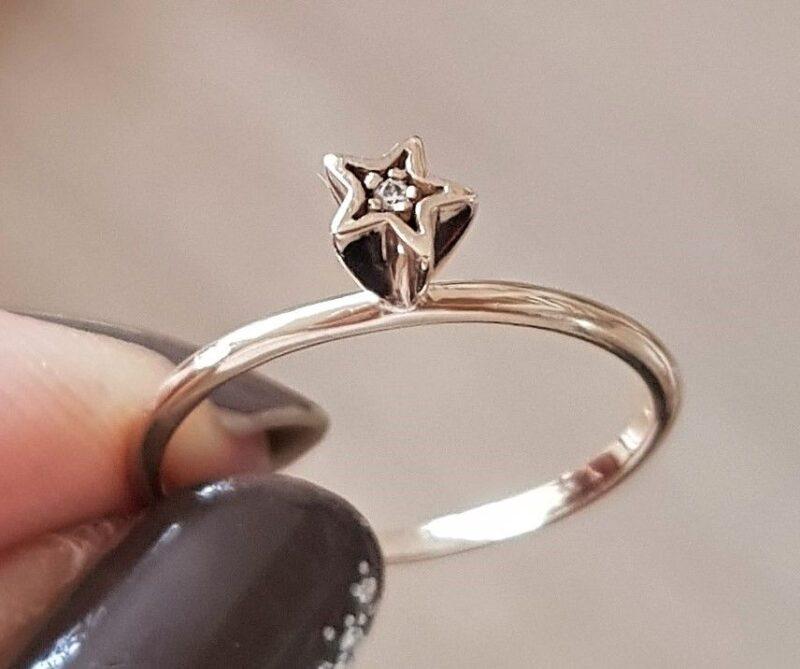 Spinning Ring i Guld m. Stjerne