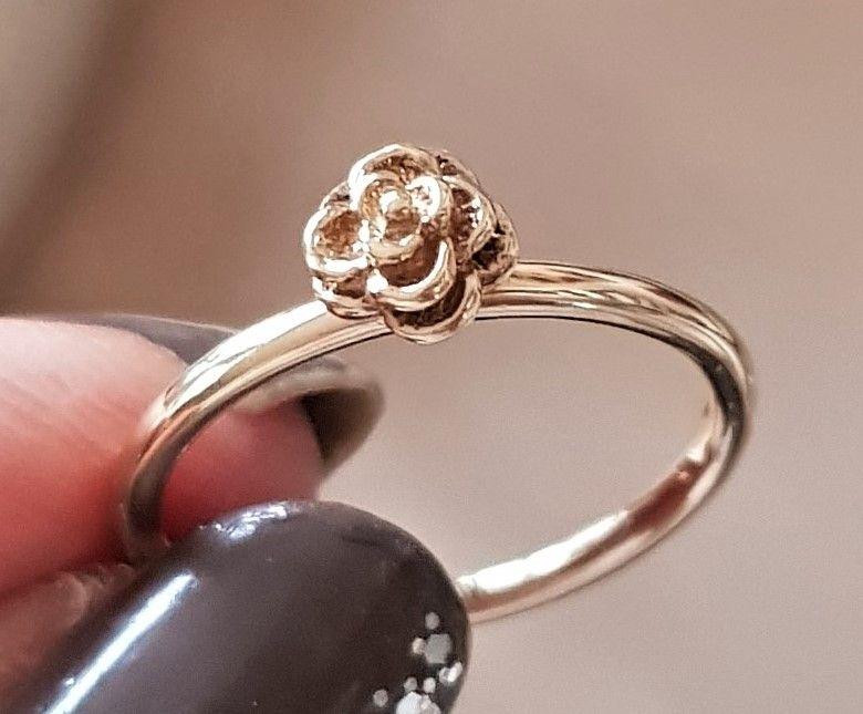 Spinning Ring i Guld m. Rose