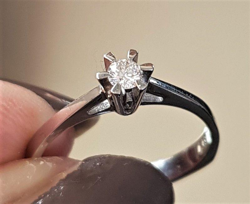 Toftegaard Solitaire Diamant Ring m. 0,09 carat Diamant.