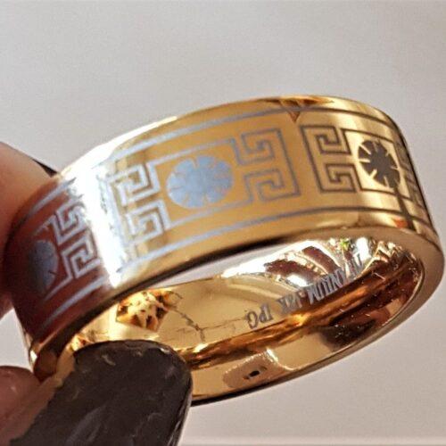 Titanium Ring m. 18 Karat Guld.