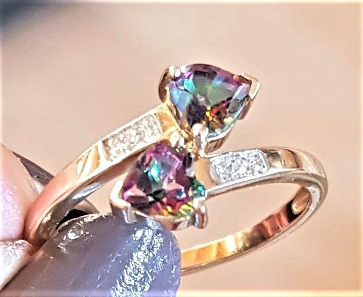 Mystic Multi Farvet Topas Ring i Guld