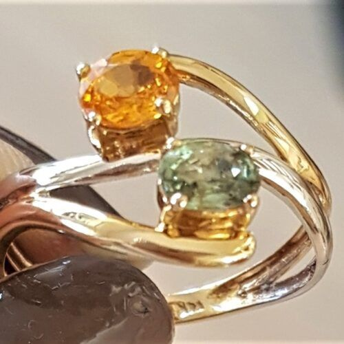 grøn/orange Safir