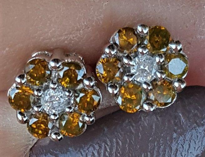 Gyldne Roset Diamant Øeringe