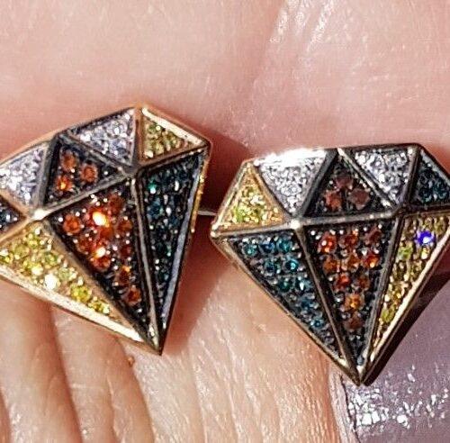 Farvede Skåret Diamant øreringe