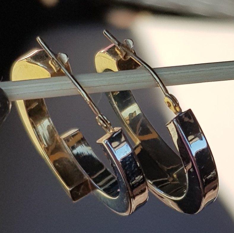 To-tonede Øreringe