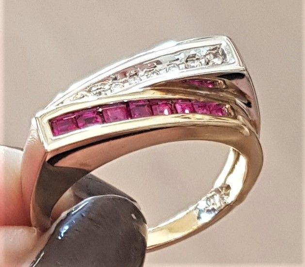 rubin - diamant ring
