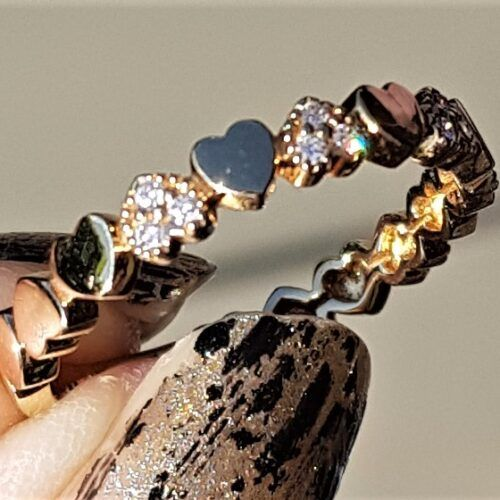 Hjertering m. Diamanter