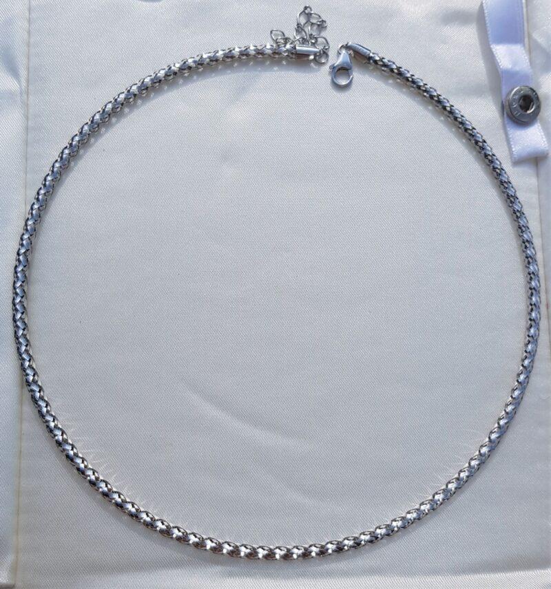 Hvidguld Mesh Wire kæde