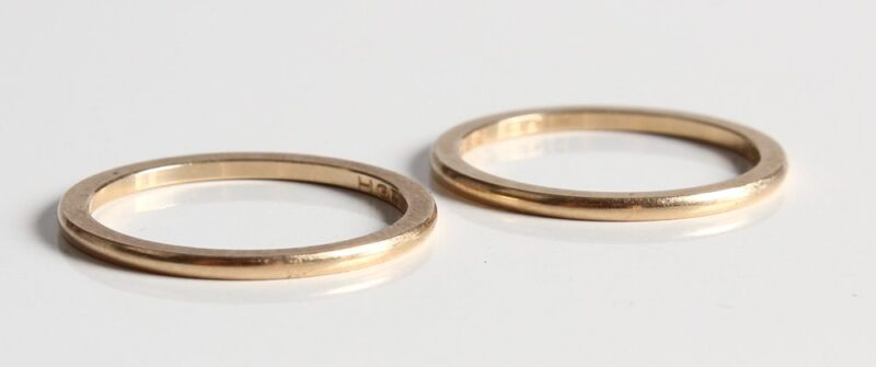 Garder/Side Ringe i 14 Karat Guld.