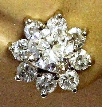 Roset Diamant Øreringe i Hvidguld m. i alt 0,99 carat