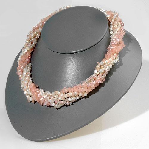 Rosa Quartz, Perle Halskæde