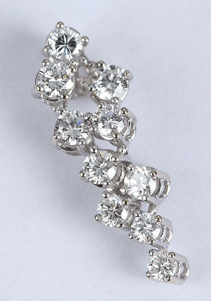 Diamantvedhæng m. i alt 0,65 carat Diamanter