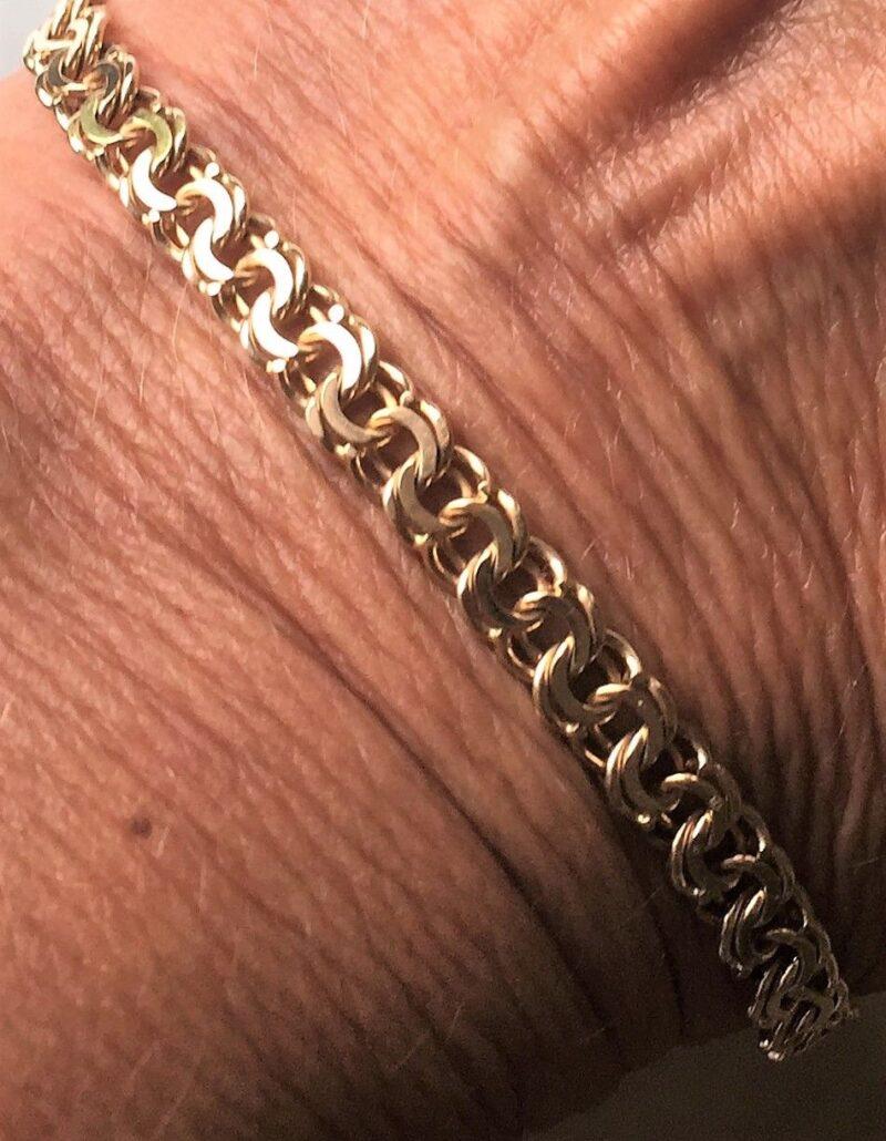 Bismark Armlænke fra Gifa på 9,9 g. i 14 Karat Guld.
