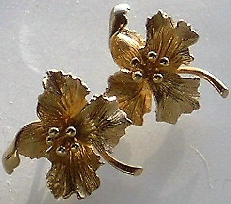 Blomster Øreringe i 14 Karat Guld