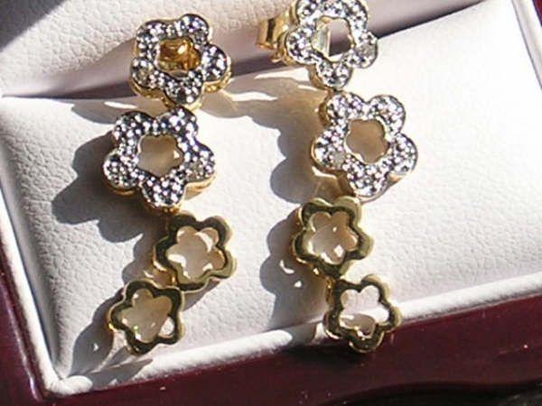 Blomster Diamant øreringe