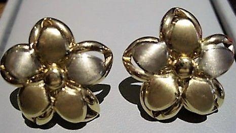 Blomster Øreringe i Totonet Guld