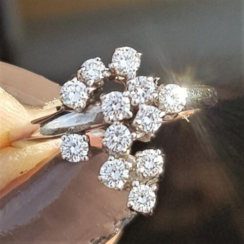 Brilliant Slebet Diamant Ring 0,60 carat