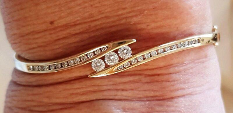 Diamantarmring Guld