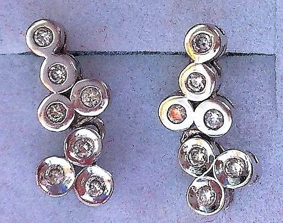 Diamant Øreringe i Hvidguld 0,15 carat