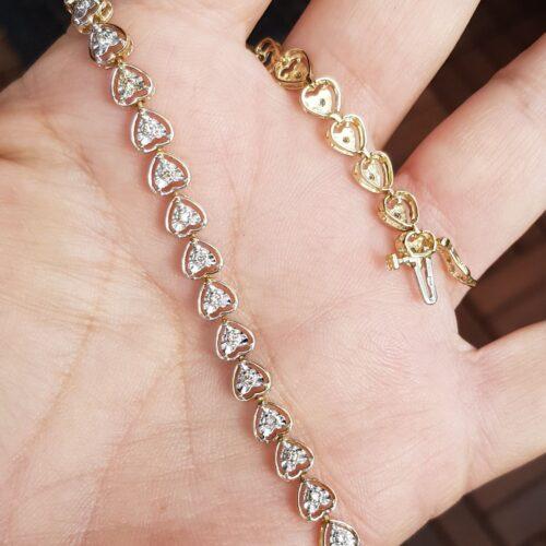 Diamant armlænke Hjerterr