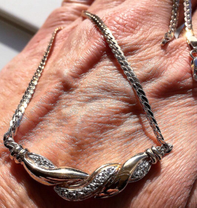 Diamant Collierer Halskæde i 14 Karat Guld.