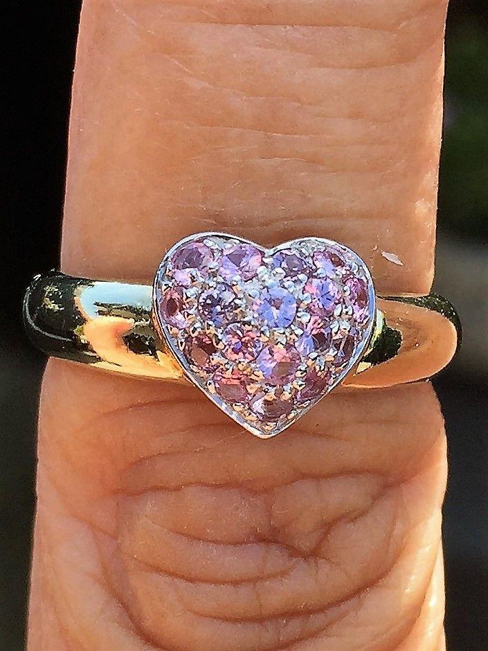 pink safir hjerte ring