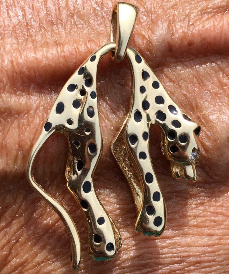 Panter/Gepard Vedhæng i 14 Karat Guld.