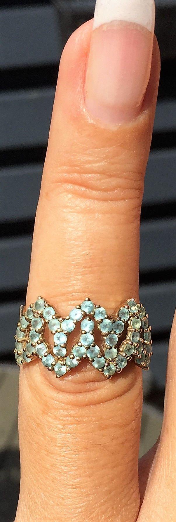 Turkis/Grøn Apatite Ring i Guld.