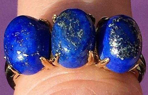 Guld ring m. Lapis Lazuli