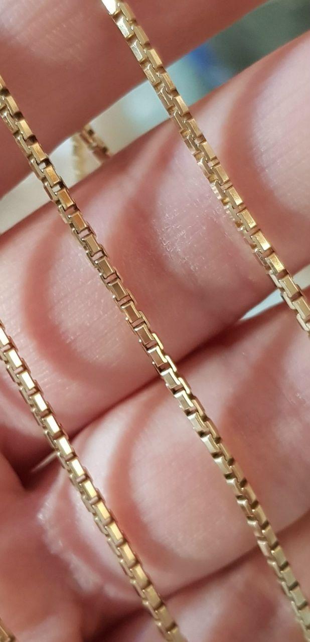 Kraftig Venezia Halskæde på 80 cm. i 14 Karat Guld.