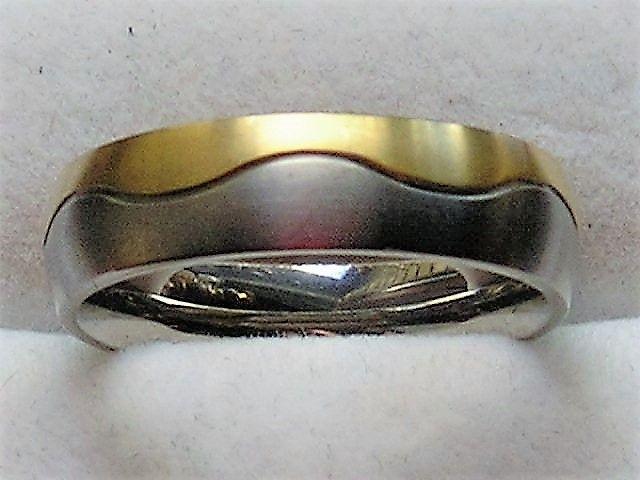 Titanium Ring m. 14 Karat Guld.