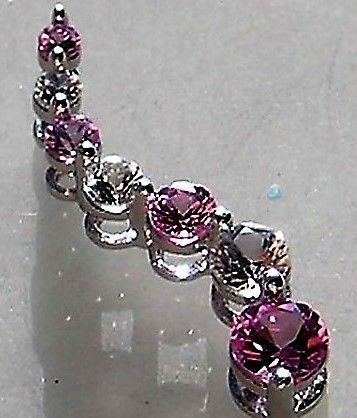 Created Rosa/Pink Safir Vedhæng i Hvidguld.