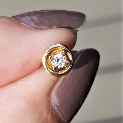 single øreringe toftegaard 0,09 carat
