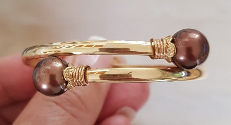 Tahiti Perle Armring i Guld